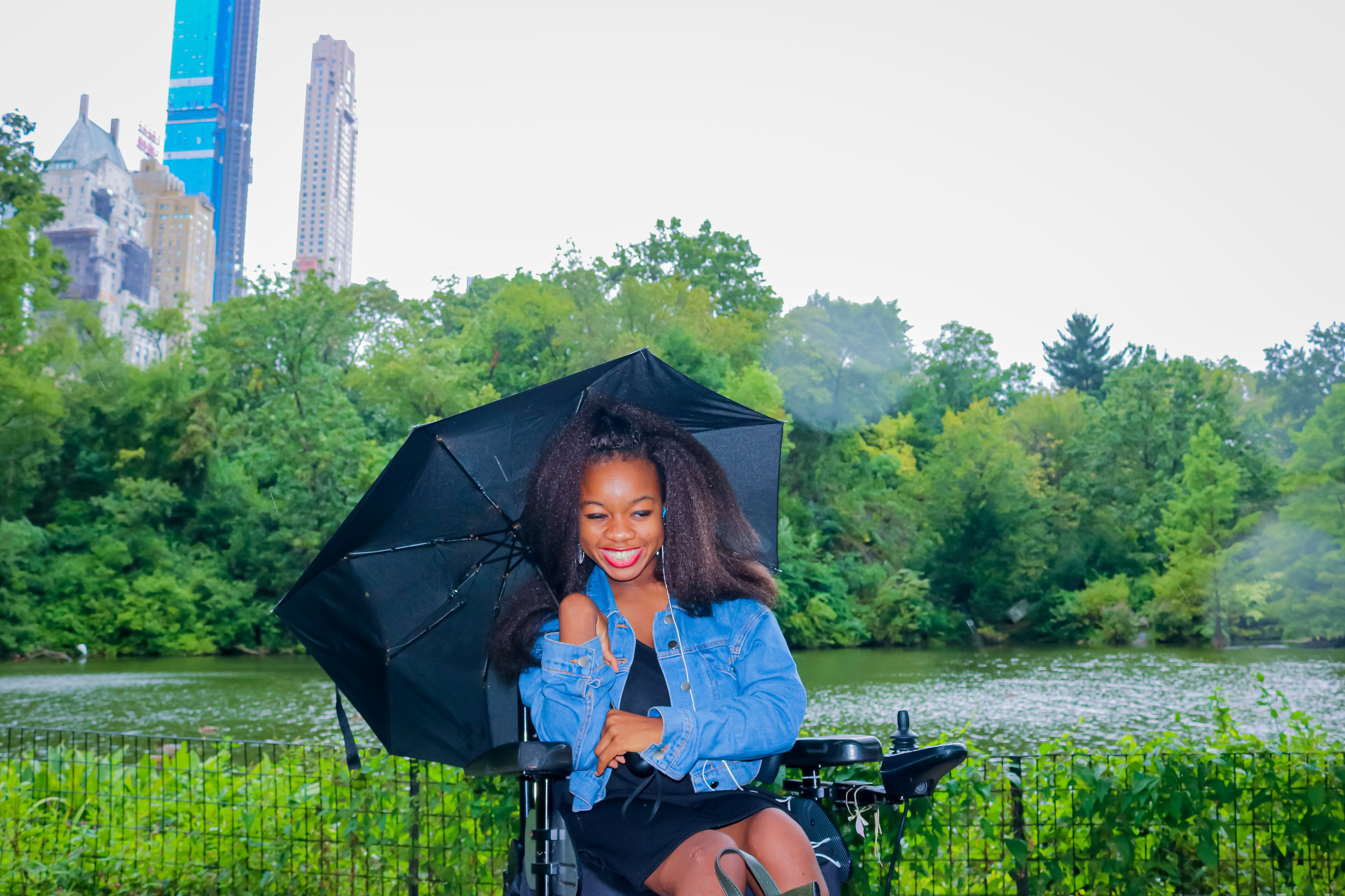 Rachy smiling in Central park