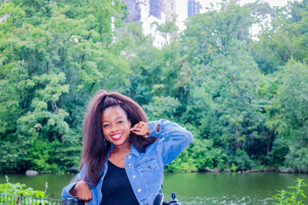 Rachy smiling big in Central park